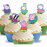 Toppershack 12 x decoración para pasteles comestibles PRECORTADAS de Peppa Pig