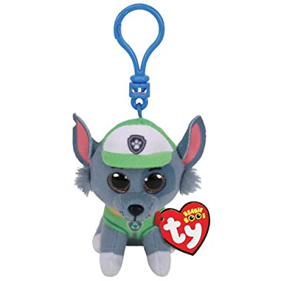 T&Y Ty Paw Patrol ROCKY - dog clip Plush Key Chain: Toys & Games