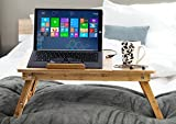 Aleratec Natural Bamboo Laptop Cooling Stand Up To 15in Bed Table Tray