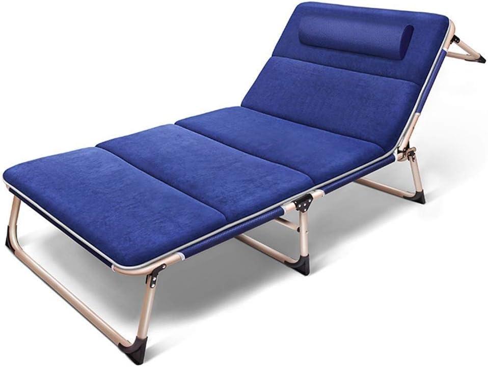 PNYGJZDY Tumbona Zero Gravity Tumbona Plegable Tumbona Ajustable Chaise Lounge con reposacabezas extraíble y Almohadilla Beach Camp Cama Cuna Patio Exterior Piscina reclinable (Color : Azul)