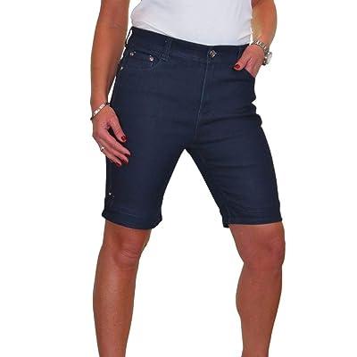 ICE Pantalones Cortos Vaqueros Cintura Alta, Lavado Suave 38-48: Ropa y accesorios