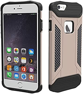 1de484503f Amazon.com: 4.7 inch Premium Dual Layer Rugged Military Grade Heavy Duty  Slim Armor Protective Combination Case Cover for Apple iPhone 6 & 6S  (Gold): Cell ...