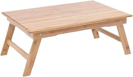 XUERUI Plegable Mesa 100% Bambú Plegable Ordenador Portátil ...
