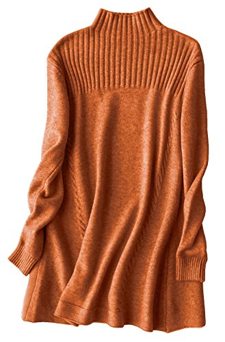 Silk Stretch Mock Neck Sweater - CRNGIAR Brown Sweater Dress, Cable Knit, Mock Neck, Long Sleeves, Winter, Holiday, Christmas, Work