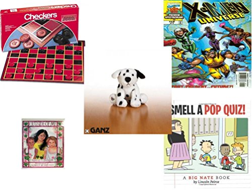"Children's Gift Bundle - Ages 6-12 [5 Piece] - Checkers Folding Board Game - X-Men Universe Past, Present and Future 1999 #1 Magazine - Webkinz Dalmatian Plush 6"" - Outside of Me Hardcover Book - I -  Secure-Order-Marketplace, Ent., dbund-6-12-9957"