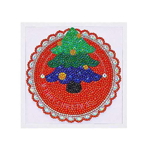 Alimao 2019 New Christmas Framed Diamond Painting Children's Handmade DIY Educational Toys A ()