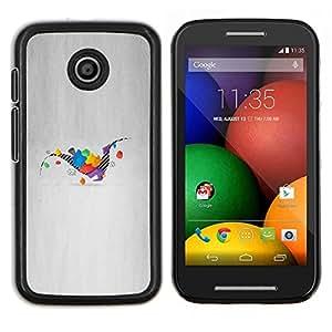 Caucho caso de Shell duro de la cubierta de accesorios de protección BY RAYDREAMMM - Motorola Moto E - Dinosaurio Geometría