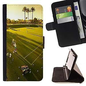 Super Marley Shop - Funda de piel cubierta de la carpeta Foilo con cierre magn¨¦tico FOR LG G3 LG-F400 D802 D855 D857 D858 - Tennis Ball Ace