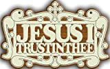 ''Jesus I Trust In Thee'' Wooden Wall Hanging with Golden Chain : DOLLY ENTERPRISES