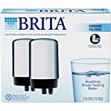 Brita Tap Water Filtration System Replacement Filters For Faucets - Chrome - 2 Count (Packaging May Vary)