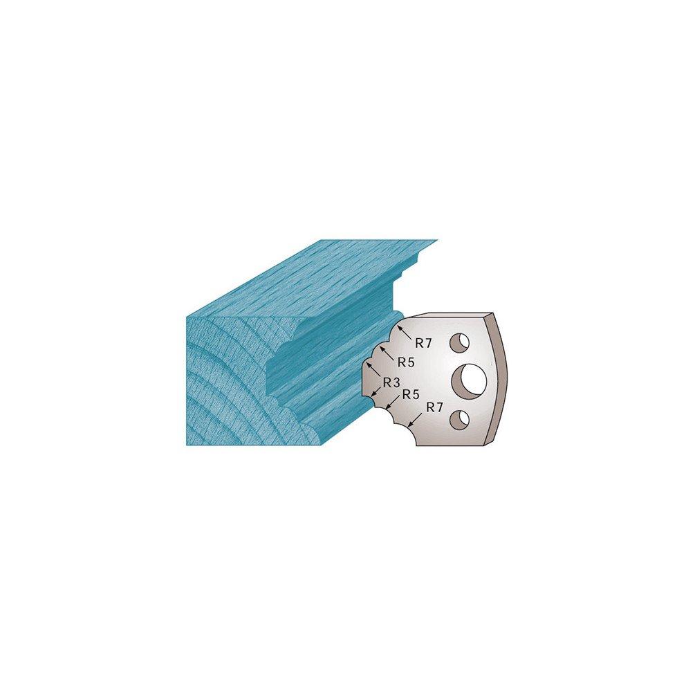 Diamwood Platinum 40 x 4 mm quart de rond et cong/é M21 pour porte-outils de toupie Diamwood Platinum Jeu de 2 fers profil/és Ht