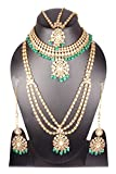 Shiv_Collection Indian Style Golden Plated Polki Kundan Stone Stone Indian Necklace Earrings Bridal Set Jewelry