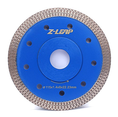 Z-LEAP 4.5 Inch Super Thin Rim Turbo Diamond Saw Blade for Cutting Granite Marble Ceramics Porcelain Tiles