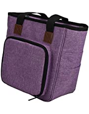 dailymall Oxford Cloth Knitting Bag, Travel Yarn Storage Tote Organizer for Yarn, Crochet Hooks, Knitting Needles and Accessories, Lightweight, Large Capacity
