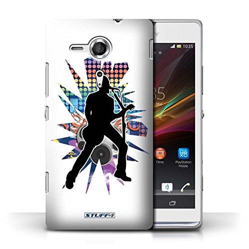 Etui / Coque pour Sony Xperia SP/C5303 / Chanteur Blanc conception / Collection de Rock Star Pose