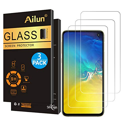 Ailun Screen Protector Compatible with Galaxy S10e 5.8 Inch 2019 Only 3 Pack 9H Hardness Tempered Glass Ultra Clear Anti Scratch Case Friendly Siania Retail Package