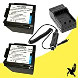 Two Halcyon 4000 mAH Lithium Ion Replacement Battery and Charger Kit for Panasonic AG-AC7 HD Camcorder and Panasonic VW-VBG260