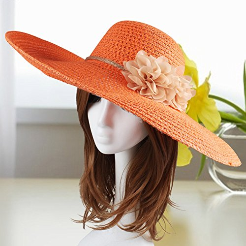 Solare 1 Di All'orlo Spiaggia Sole colore All'aperto 2 Estate Grande Femmina Paglia Cappello Da Protezione I6qwCxP
