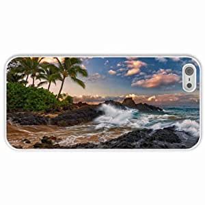 Case For Htc One M9 Cover s Customized Gifts Maui Hawaii Pacific Ocean Surf Rocks Palm Trees Clouds Tropical Coast White Hard PC Case