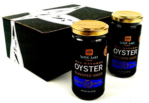 Wok Mei Gluten Free Oyster Sauce, 8 oz Jars in a BlackTie Box (Pack of 2) (Organic Sauce Chocolate)
