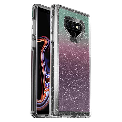 - OtterBox Symmetry Clear Series Case for Samsung Galaxy Note9 - Frustration Free Packaging - Gradient Energy (Silver Flake/Clear/Gradient Energy)