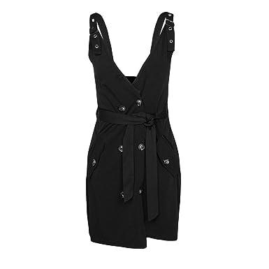 CRE87 - Hebilla para cinturón con Falda para Mujer Negro L: Amazon ...