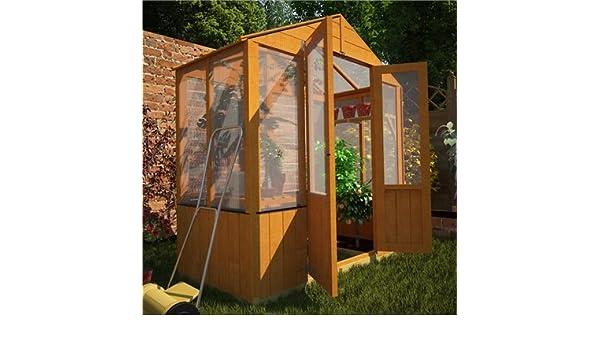 Desconocido BillyOh - Cobertizo x 6 Lincoln de madera policarbonato invernadero: Amazon.es: Jardín