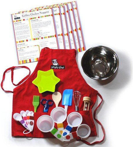 Playful Chef Deluxe Cooking Kit with Red ()