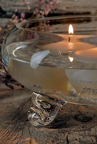 Richland Floating Candle Bowl Clear Glass Footed 9.5'' by Richland