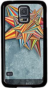 Abstract Colorful Balloon Triangles Samsung Galaxy S5 Case Pattern Monogram Durable Protective Case for Black Cover Skin - Compatible With Samsung Galaxy S5 SV i9600