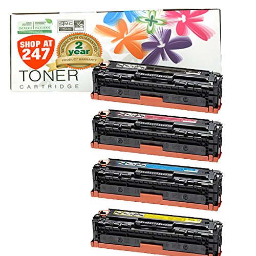 Shop At 247 ® Compatible Toner Cartridge Replacement for Canon 131 Color Set MF8280cw LBP-7110cw ( 1 Black, 1 Cyan, 1 Yellow, 1 Magenta, 4-Pack)