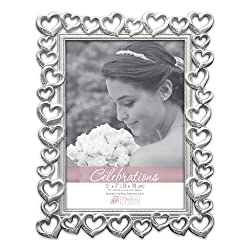 Timeless Frames Hearts Picture Frame, Silver