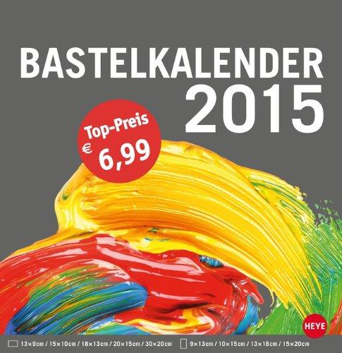 Bastelkalender groß anthrazit 2015