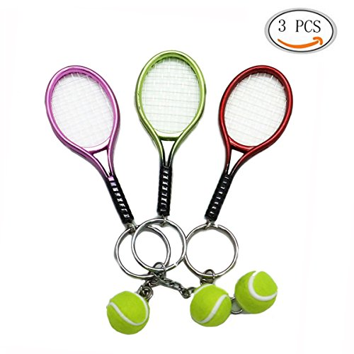 Tennis Racket Key Chain (Red) - 6