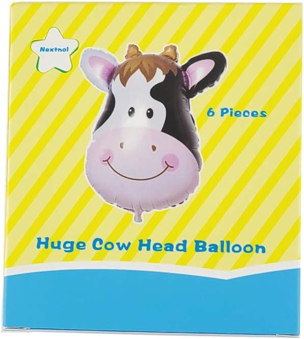 Can Float Huge Animal Balloons Appeals to Children Nextnol 6PCS Huge Cow Head Balloon