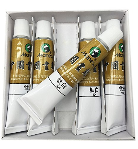 Easyou Marie's Big Size Chinese Painting Color Tubes Watercolor Drawing 12ml5pcs Titanium White
