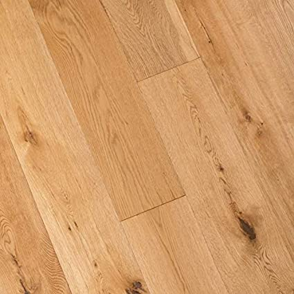 "Wide Plank 7 1/2"" x 5/8"" European French Oak (Natural) Prefinished Engineered Wood Flooring Sample at Discount Prices by Hurst Hardwoods - - Amazon.com"