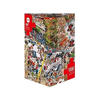 Heye Jigsaw Puzzle - Triangular 1500 Piece - Monaco Classics, Loup: Toys & Games