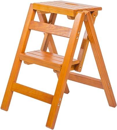 Sarazong Taburete de peldaño de Madera Maciza/Escalera de Madera Maciza Plegable, Taburete de Cocina, Taburete de hogar Escalera de Madera Escalera de Ahorro de Espacio,A: Amazon.es: Hogar