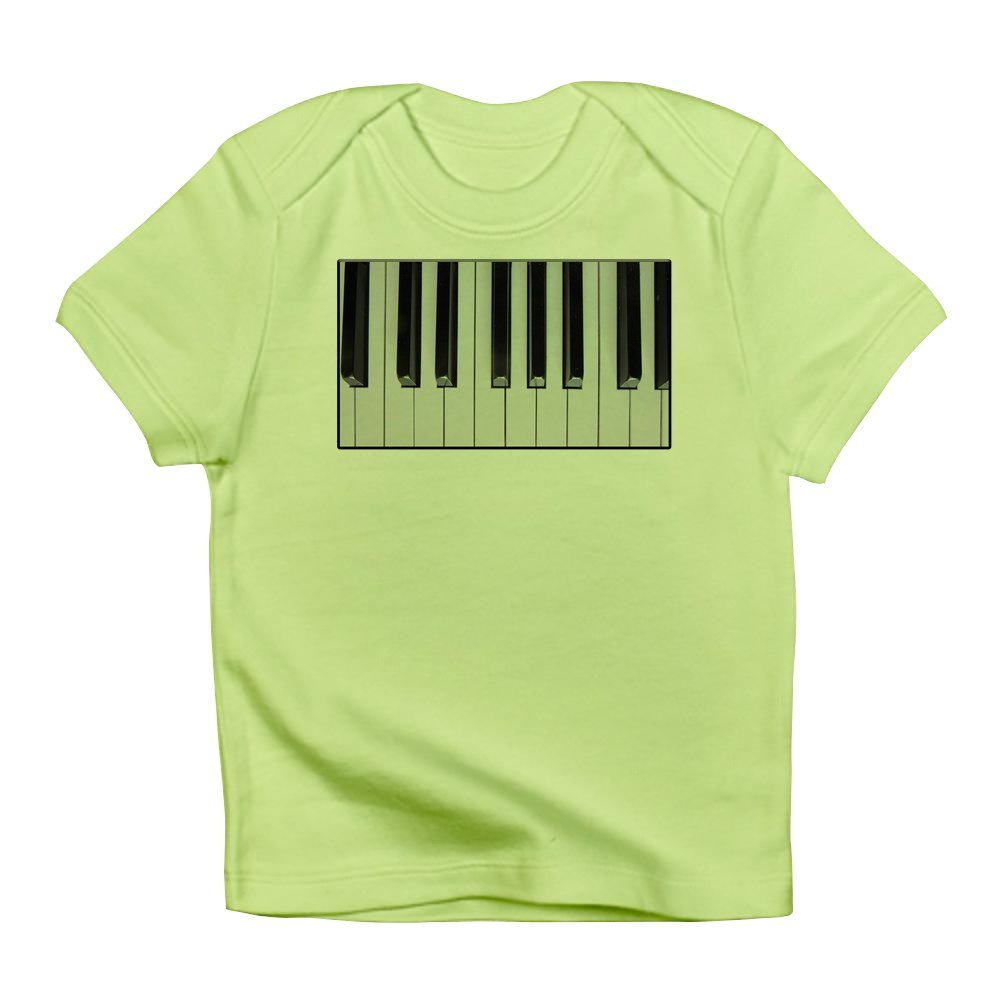 Up Close and Musical Truly Teague Infant T-Shirt Piano Keys Kiwi 0 To 3 Months