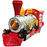 Others Battery Operated Bump N Go Light Sound Bubble Shooter Traing Engine Toy For Kids