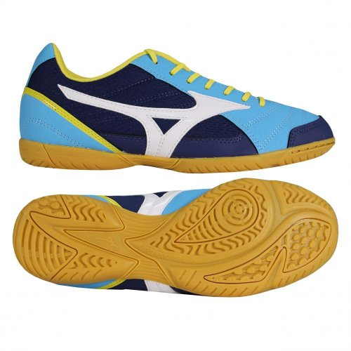 Mizuno Scarpe Calcetto Indoor Uomo - Sala Club Indoor - Q1GA1451-28 - DivaBlue/LimePunch/White-44