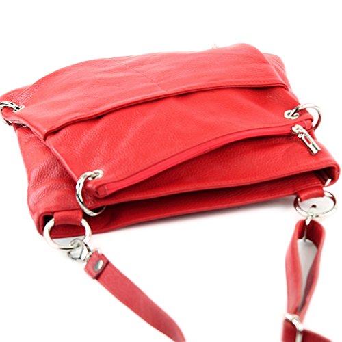 modamoda 2in1 cuir sac sac à Rouge Messenger NT07 en de cuir bandoulière sac sac en dames ital ZwxZ7Urq