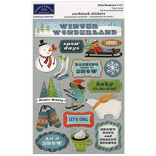 KAREN FOSTER Design Acid and Lignin Free Scrapbooking Sticker Sheet