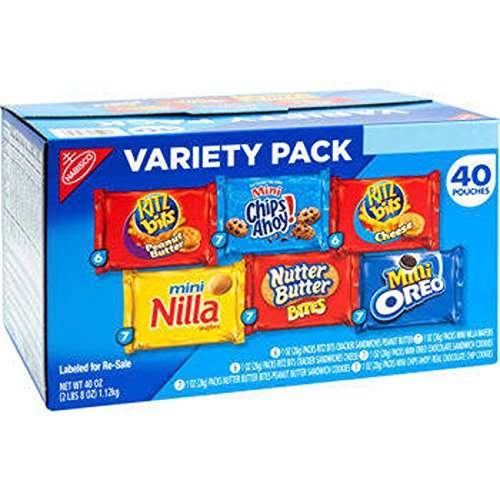 Nabisco Variety Snack Pack 40ct - COS