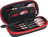 Casemaster Sentry Dart Case Slim EVA Shell for Steel and Soft Tip Darts, Hold 6 Darts and Features Built-in St