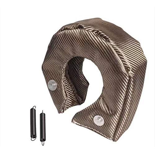 (GSRECY Titanium Lava Fiber Turbo Blanket High Temperature Heat Shield Barrier Turbocharger Cover Wrap (T3))