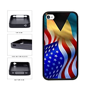 Bahamas And USA Mixed Flag TPU RUBBER Phone Case Back Cover Apple iPhone 5 5s