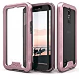 Zizo ION Series compatible with LG K20 Plus Case Military Grade Drop Tested with Tempered Glass Screen Protector LG Harmony Case ROSE GOLD CLEAR