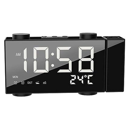 Reloj Digital LED Radio FM Alarma, Reloj de Mesa de luz de Fondo ...